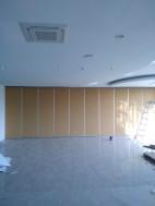 Ruang perjamuan akustik kedap suara geser bergerak kayu ruang lipat partisi dinding redam suara